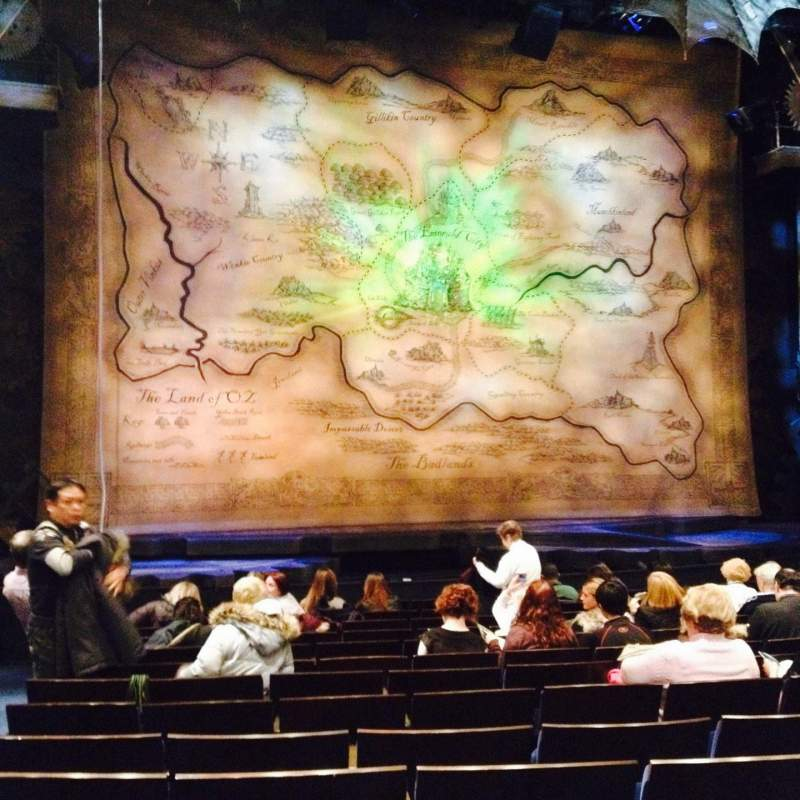 Seating view for Gershwin Theatre Section Orchestra C Row J Seat 101