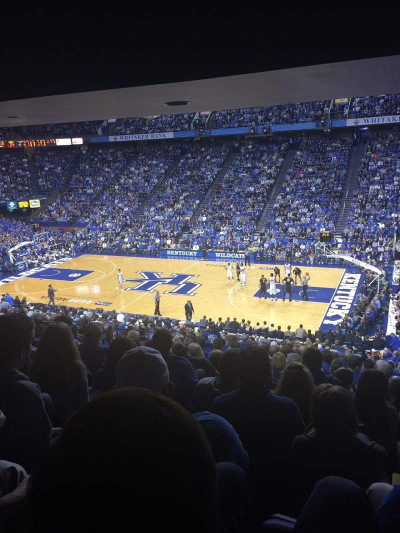 Seating view for Rupp Arena Section 29 Row Y Seat 4