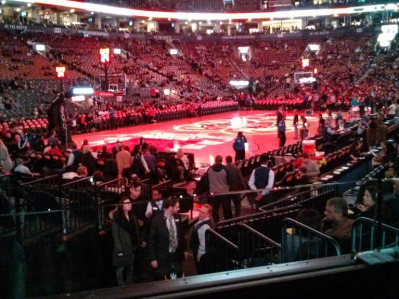 Seating view for Air Canada Centre Section 122 Row 9 Seat 7