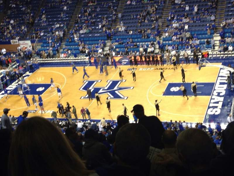 Rupp Arena, section: 212, row: V, seat: 7