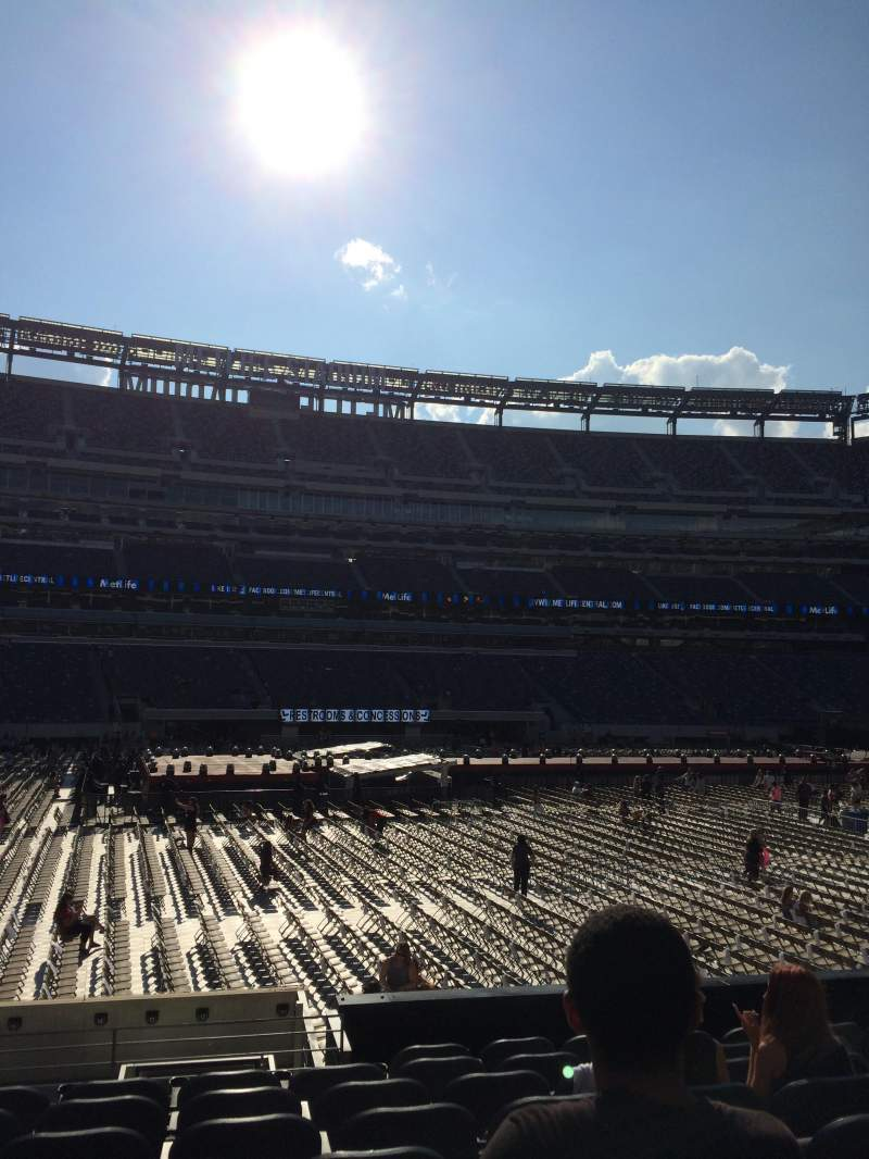 Seating view for MetLife Stadium Section 115c Row 9 Seat 10