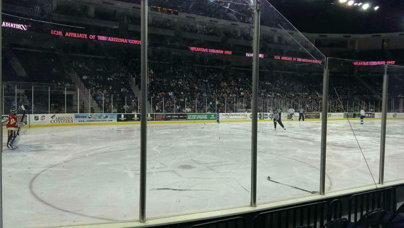 Seating view for Infinite Energy Arena Section 102 Row b Seat 5