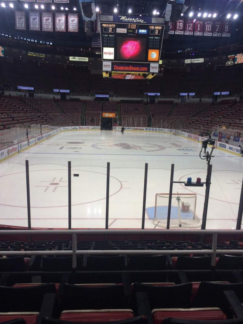 Seating view for Joe Louis Arena Section 101 Row 11 Seat 5