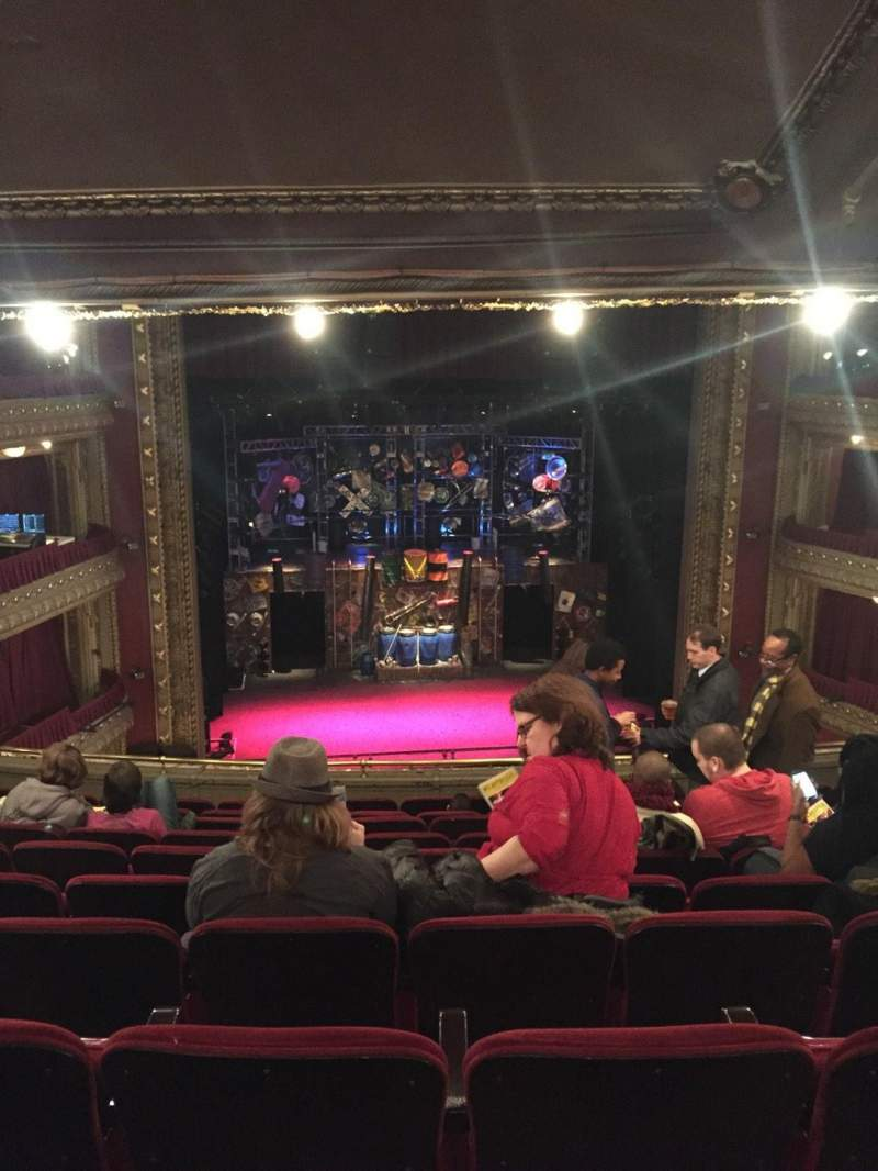 Seating view for PrivateBank Theatre Section Mezzanine LC Row K Seat 305