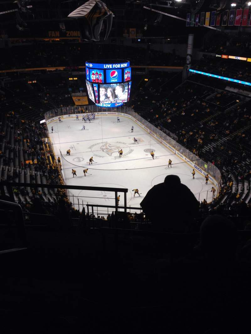 Seating view for Bridgestone Arena Section 333 Row N Seat 21
