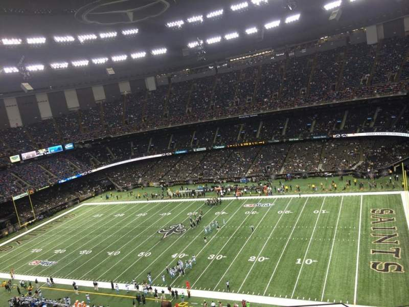 Seating view for Mercedes-Benz Superdome Section 610 Row 19 Seat 1