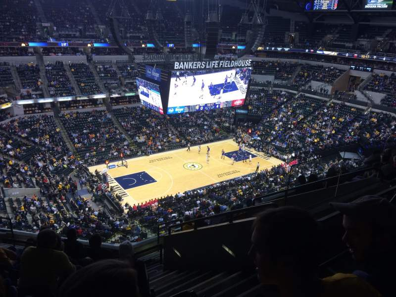 Seating view for Bankers Life Fieldhouse Section 211 Row 9 Seat 6