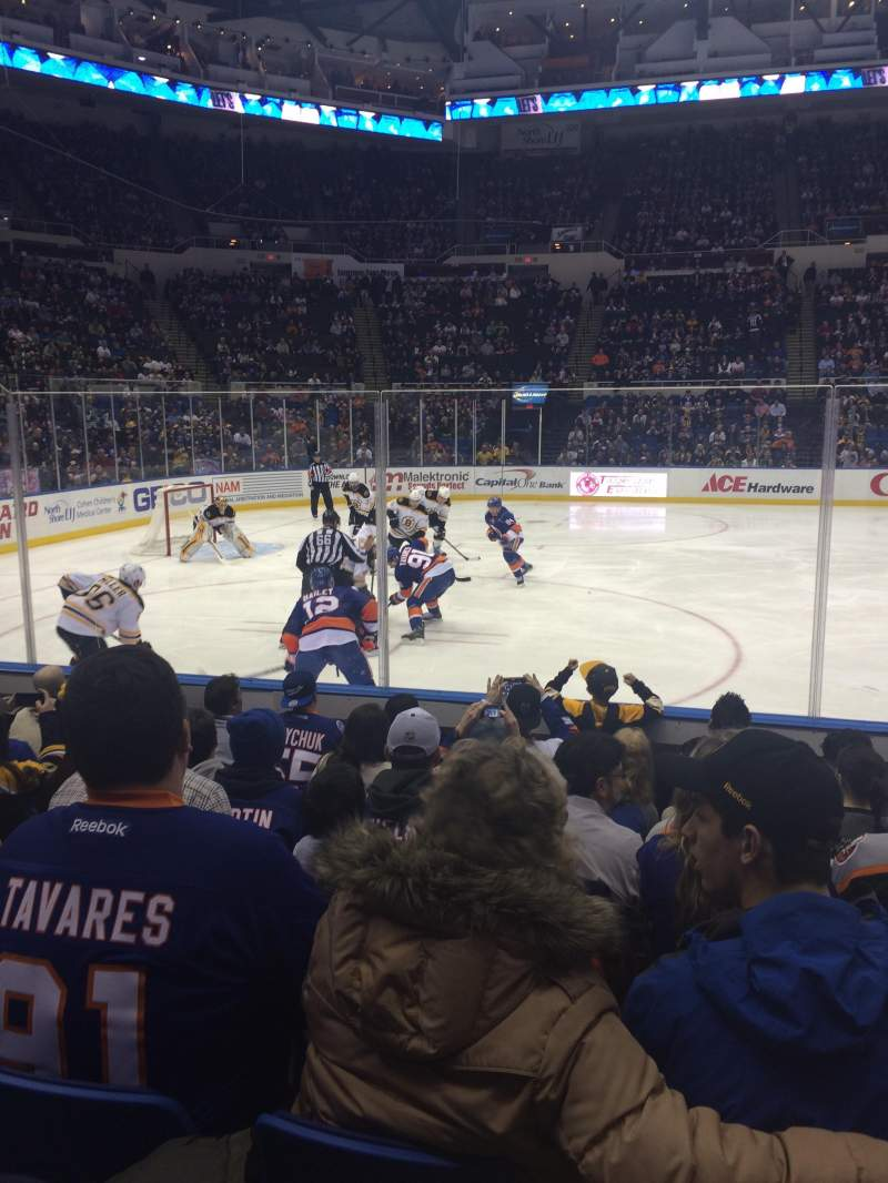 Seating view for Old Nassau Veterans Memorial Coliseum Section 104 Row F Seat 5