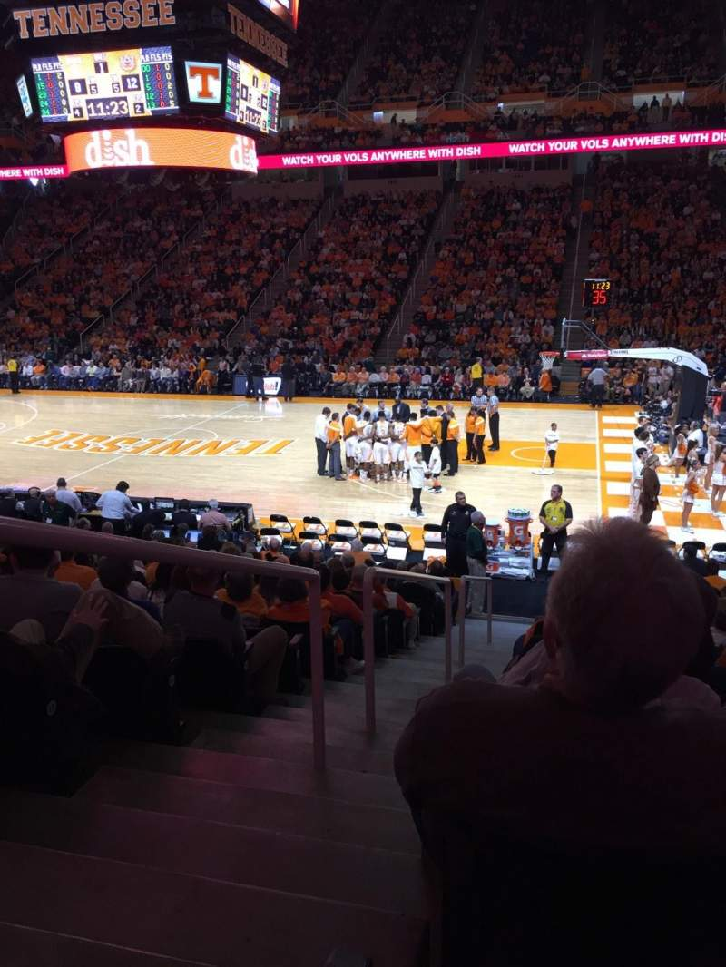 Seating view for Thompson-Boling Arena Section 103 Row 15 Seat 14