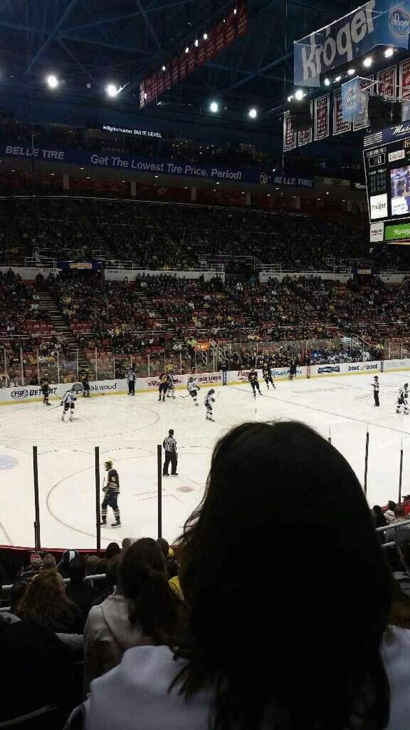 Joe Louis Arena Section 111 Row 15 Seat 7 Michigan