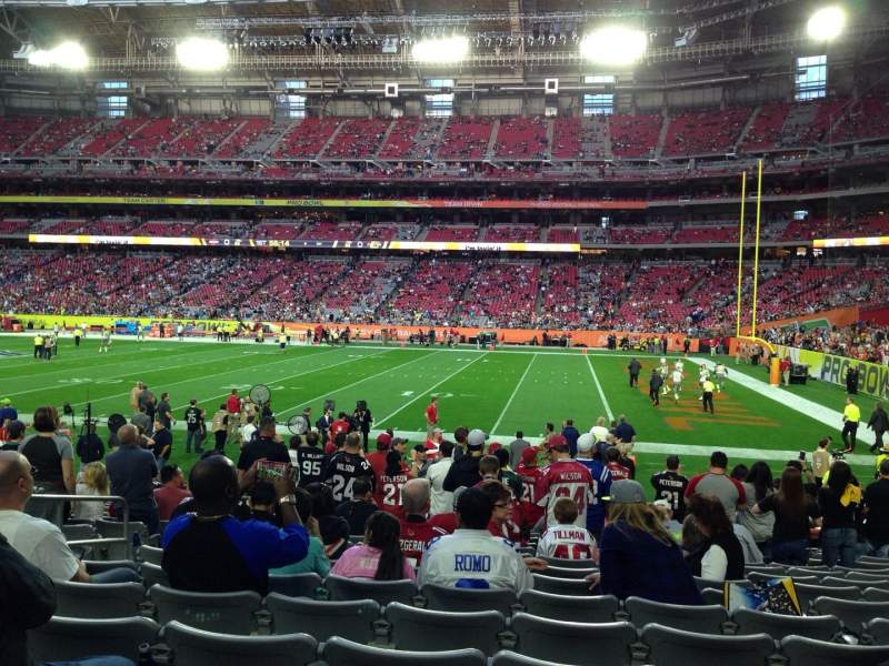 Seating view for University of Phoenix Stadium Section 104 Row 15 Seat 12