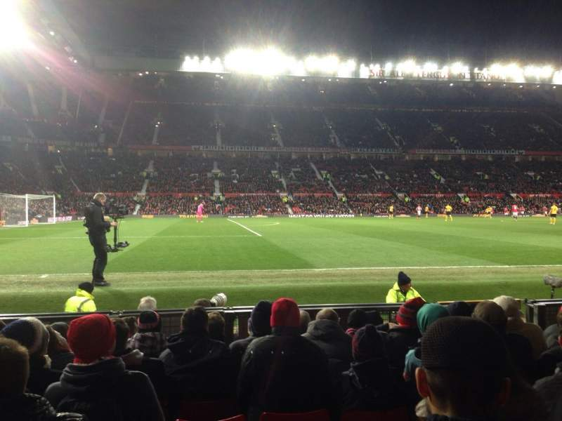 Seating view for Old Trafford Section STH122 Row JJ Seat 212