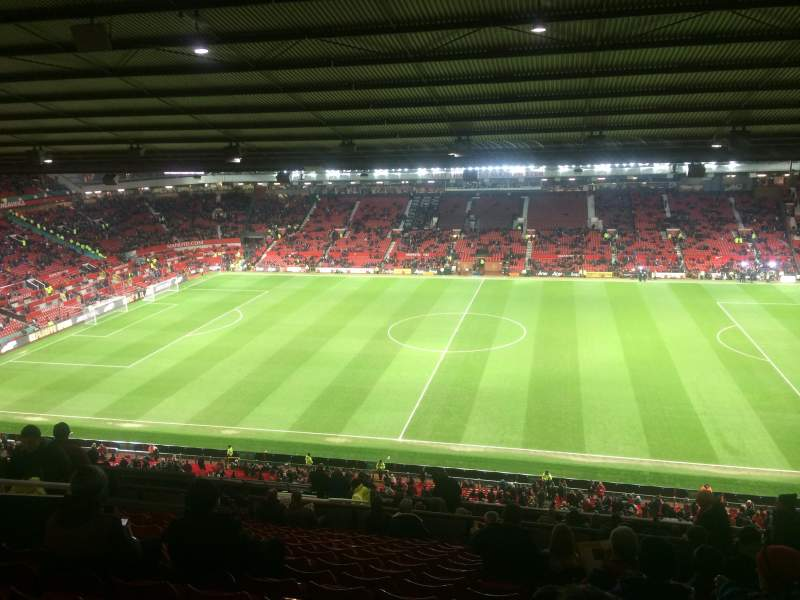 Seating view for old Trafford Section Sir Alex Ferguson Stand Row 28 Seat 93