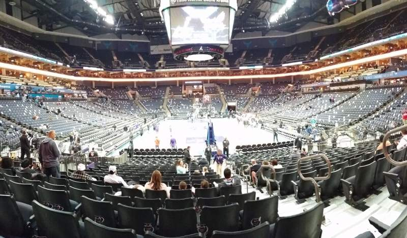 Seating view for Spectrum Center Section 110 Row N Seat 3