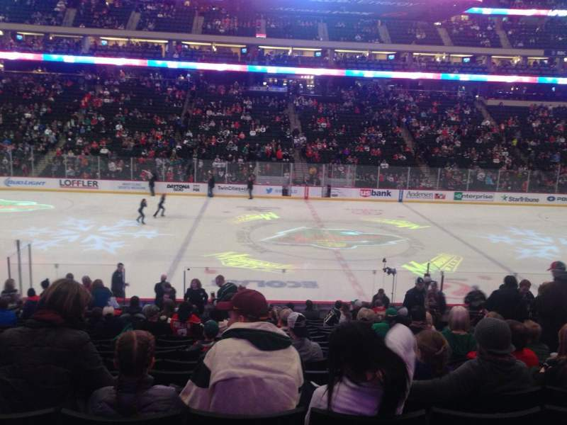 Seating view for Xcel Energy Center Section 117 Row 19 Seat 8