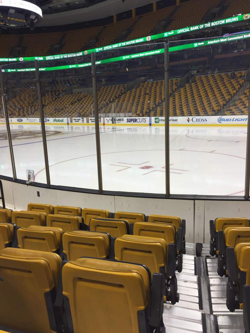 Seating view for TD Garden Section Loge 20 Row 6 Seat 6