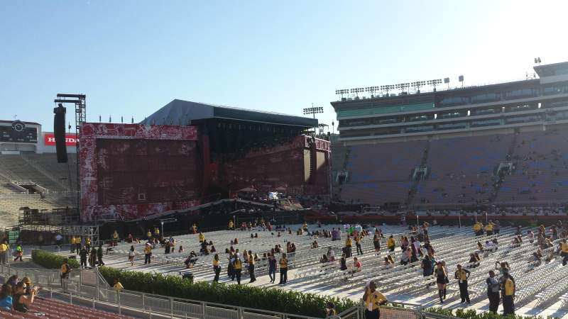Seating view for Rose Bowl Section 5-H Row 14 Seat 14
