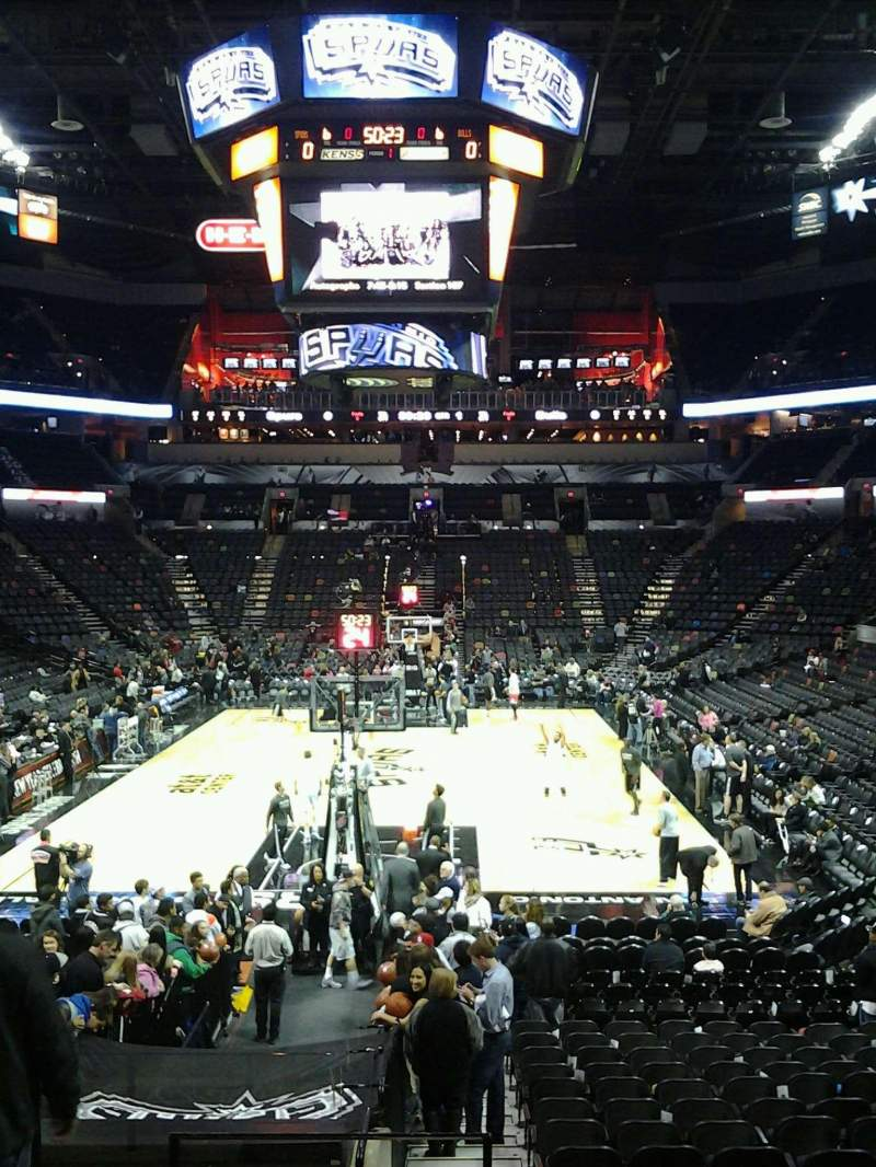 Seating view for AT&T Center