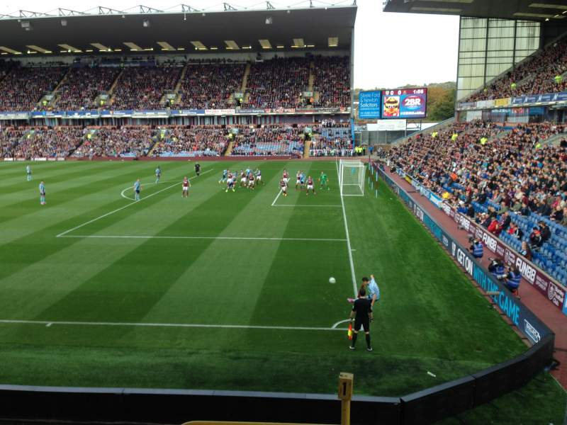 Seating view for Turf Moor Section Bob Lord Stand Row K Seat 5