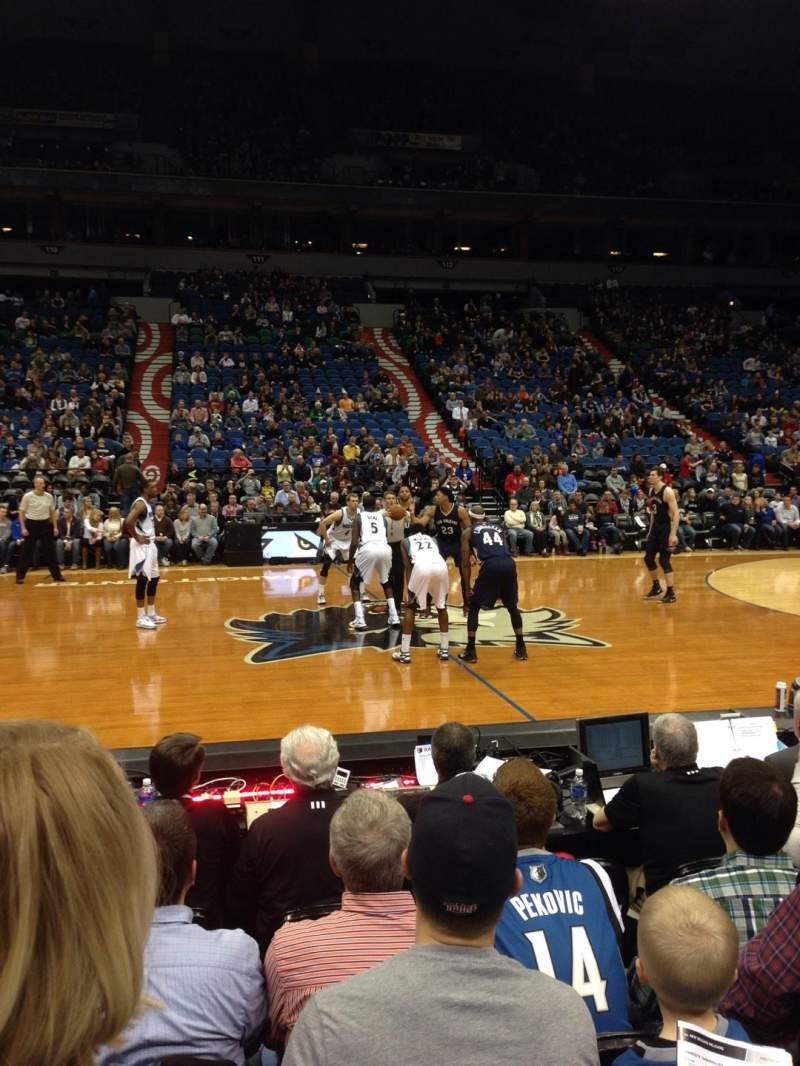 Seating view for Target Center Section 131 Row 4 Seat 2