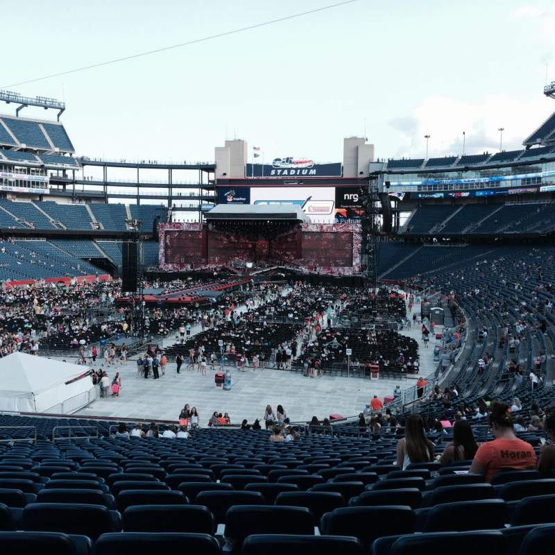 Seating view for Gillette Stadium Section 140 Row 35 Seat 11