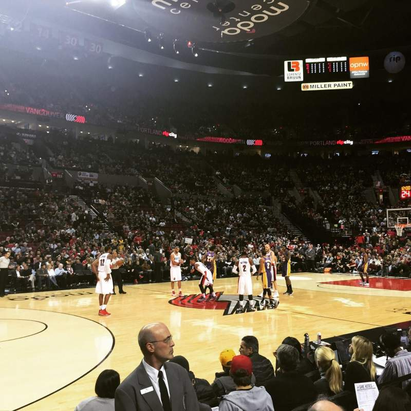 Seating view for Moda Center Section 102 Row A