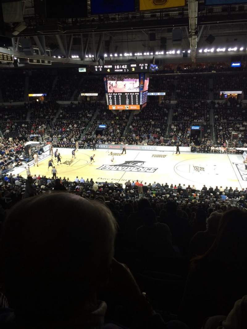 Seating view for Dunkin' Donuts Center Section 210 Row N Seat 8