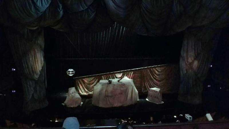 Seating view for Majestic Theatre Section Front Mezzanine C Row D Seat 103