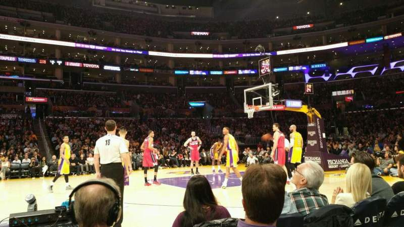 Seating view for Staples Center Section 101CT Row a