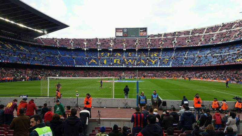 Seating view for Camp Nou Section 120 Row 02 Seat 08