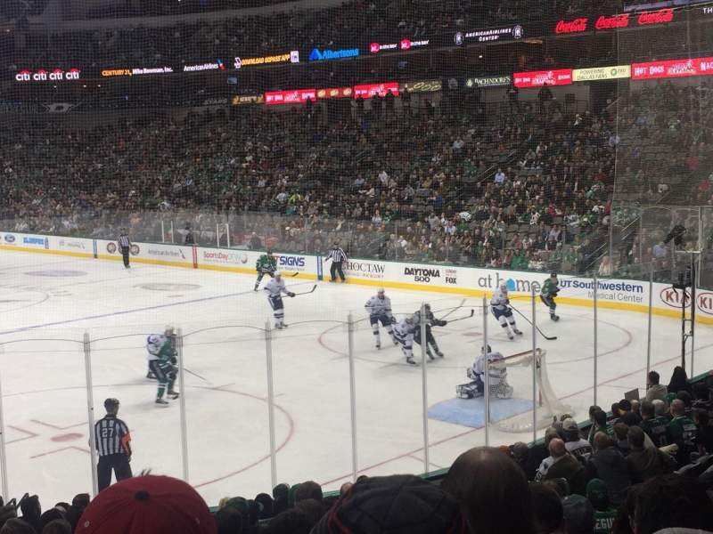 Seating view for American Airlines Center Section 114 Row R