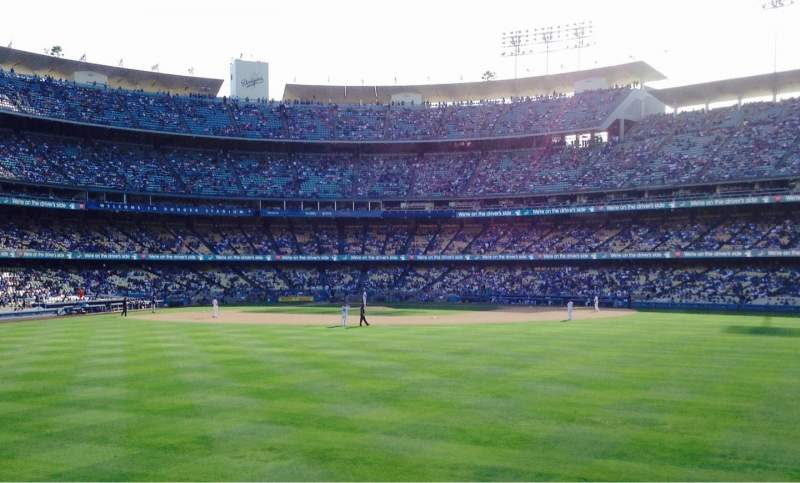 Seating view for Dodger Stadium Section Right Field Pavillion