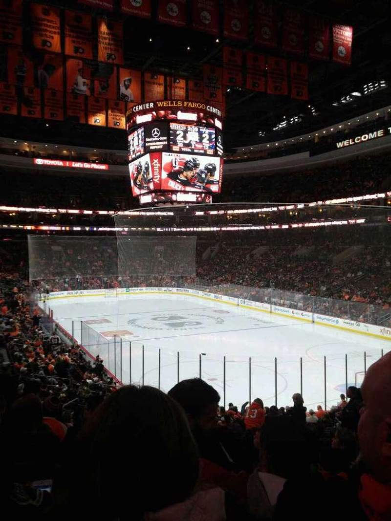 Seating view for Wells Fargo Center Section 105 Row 23 Seat 14