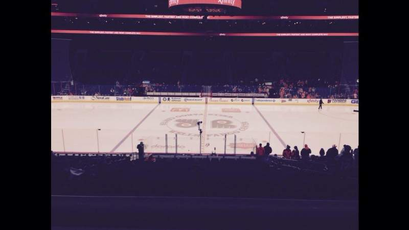 Seating view for Wells Fargo Center Section SB13 Row 1 Seat 9