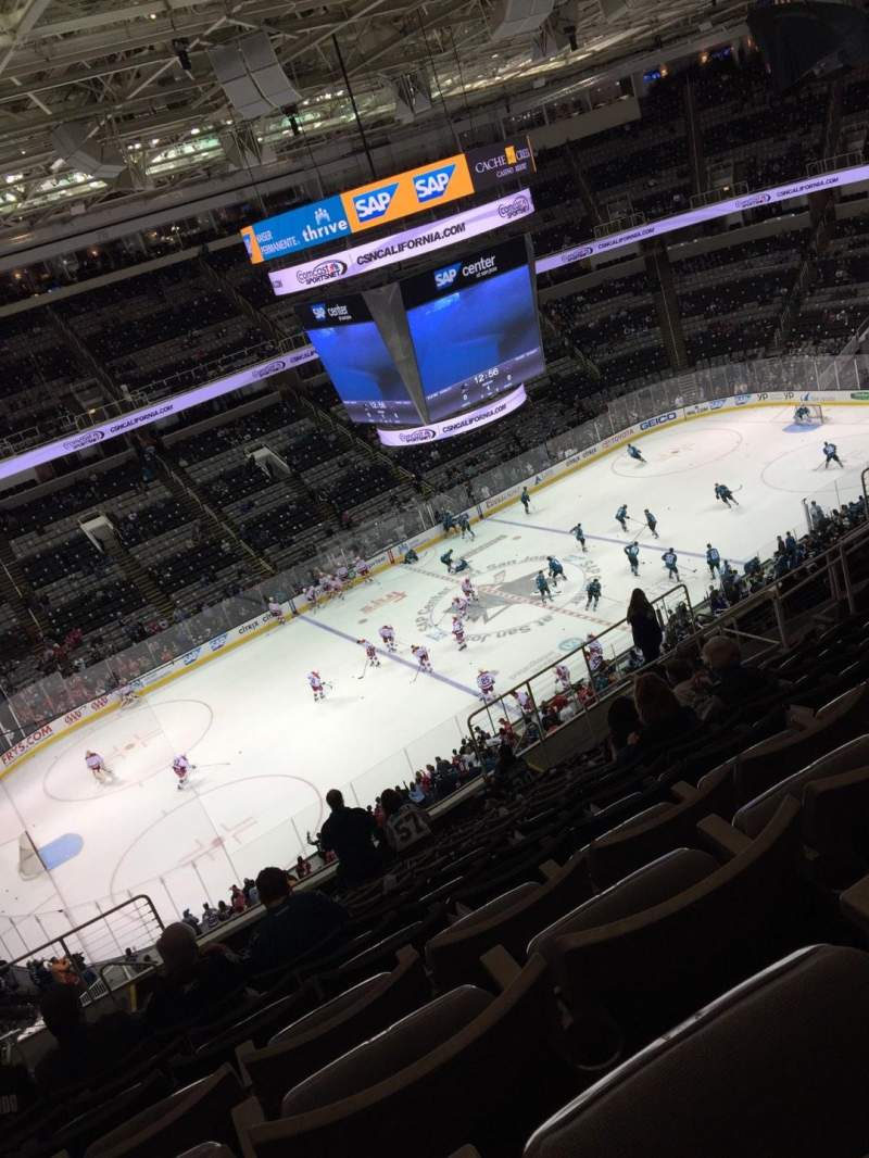 Seating view for SAP Center at San Jose Section 203 Row 15 Seat 13