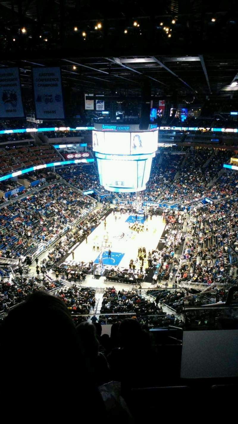 Seating view for Amway Center Section 216 Row 11 Seat 1