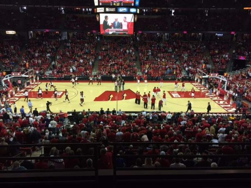 Seating view for Kohl Center Section 222 Row B Seat 9