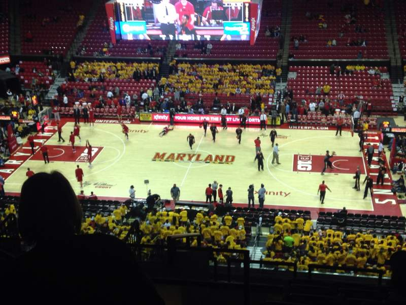Seating view for Xfinity Center Section 215 Row 14 Seat 17