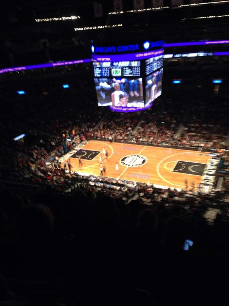 Seating view for Barclays Center Section 206 Row 17 Seat 7