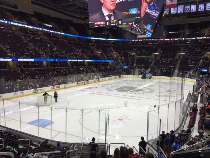 Seating view for Quicken Loans Arena Section 120 Row 14 Seat 3