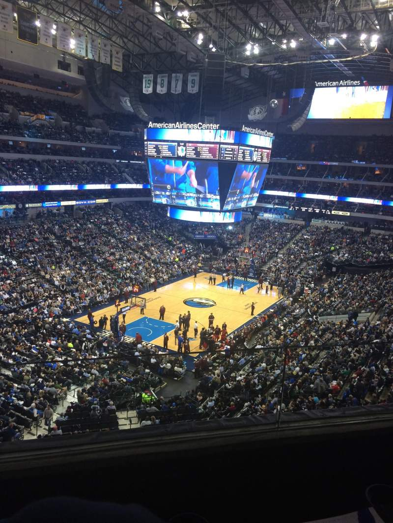 Seating view for American Airlines Center Section 321 Row B Seat 7
