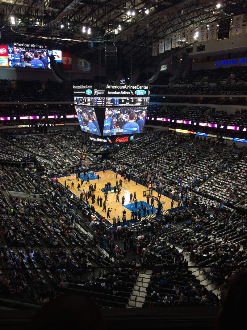 Seating view for American Airlines Center Section 321 Row A Seat 9