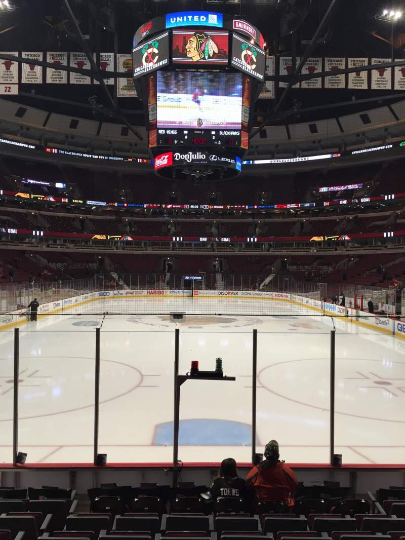 Seating view for United Center Section 106 Row 9 Seat 9