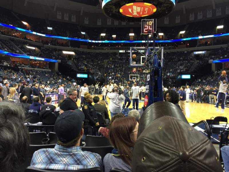 Seating view for FedEx Forum Section 109 Row E Seat 1