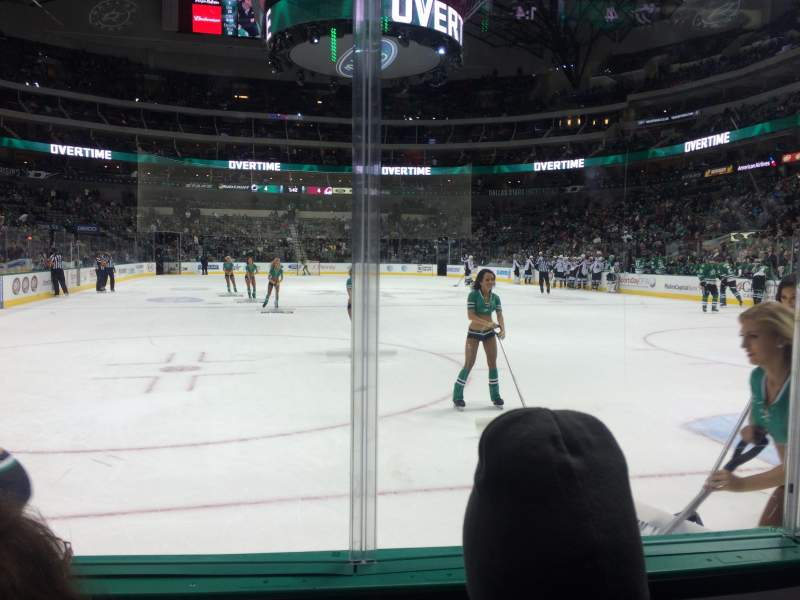 Seating view for American Airlines Center Section 101 Row B Seat 11