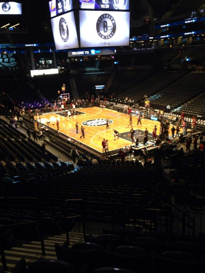Seating view for Barclays Center Section 118 Row 6 Seat 18