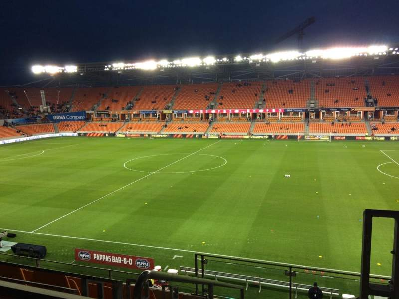 Seating view for BBVA Compass Stadium Section 205 Row F Seat 1