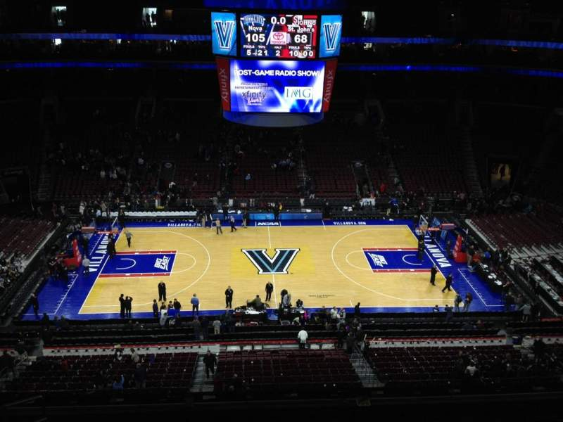 Seating view for Wells Fargo Center Section 213 Row 8 Seat 3