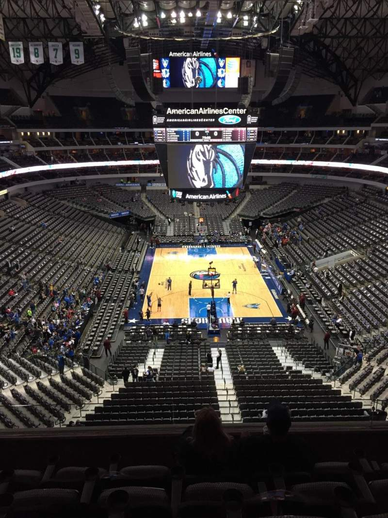 Seating view for American Airlines Center Section 301 Row EE Seat 16