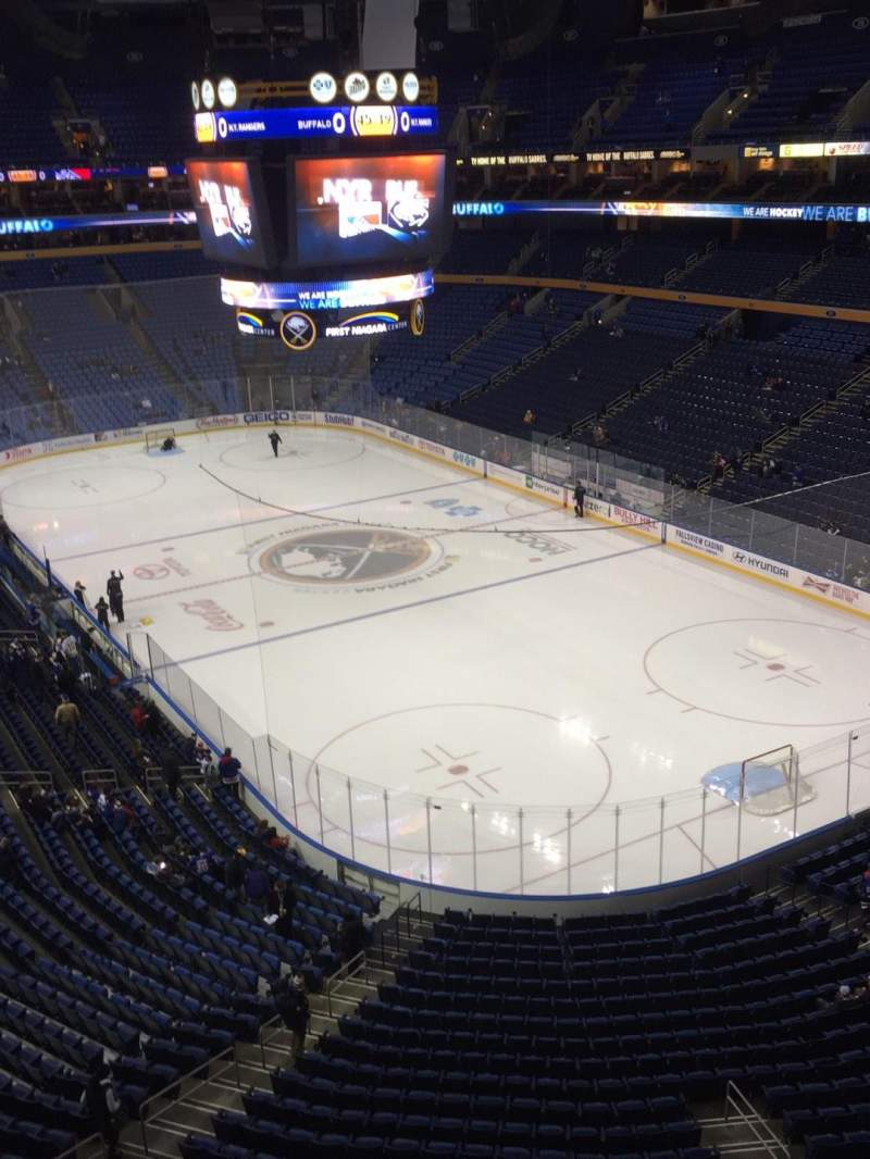 Seating view for KeyBank Center Section 301 Row 1 Seat 15